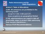 radio astronomers and the radio regulations