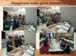 doughnuts make great incentives