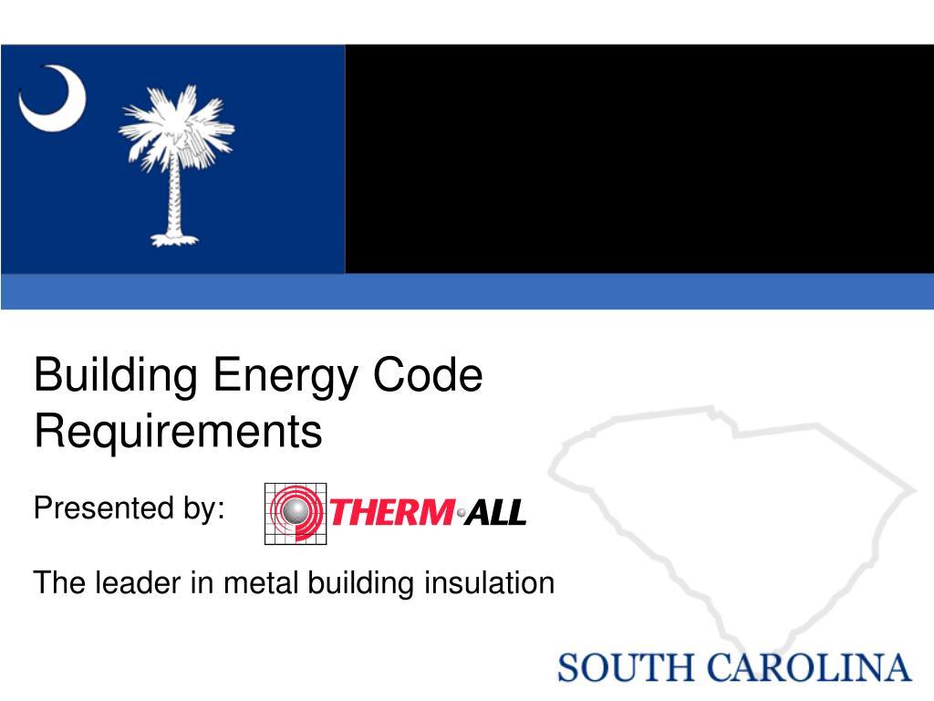 building energy code requirements