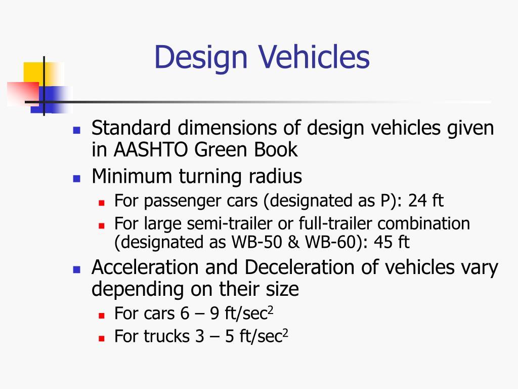 Design Vehicles