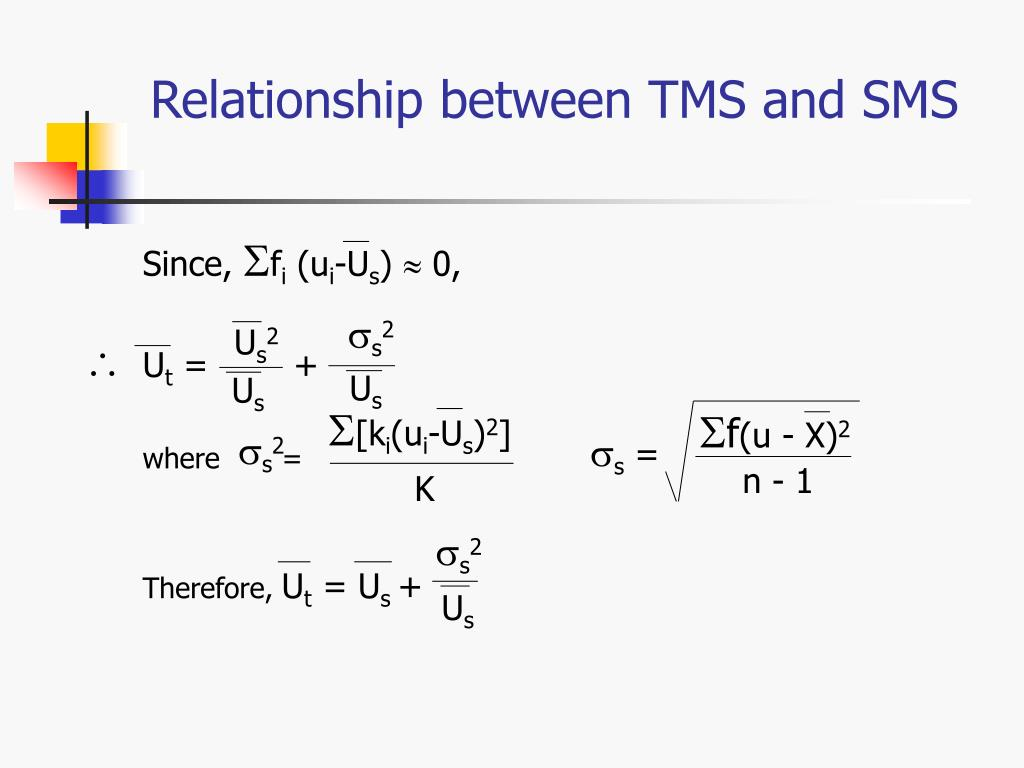 Relationship between TMS and SMS