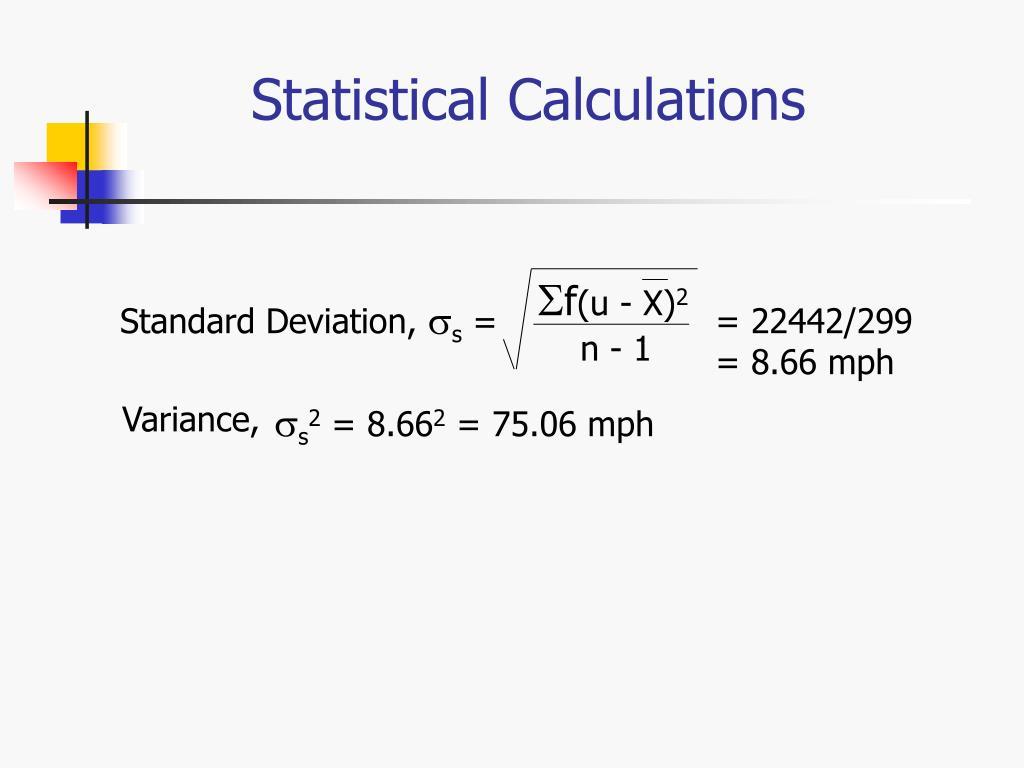 Statistical Calculations