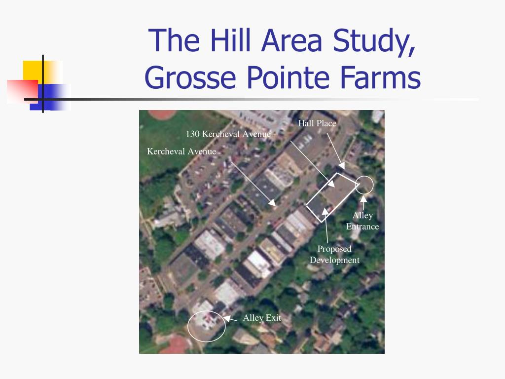 The Hill Area Study,