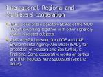 international regional and multilateral cooperation