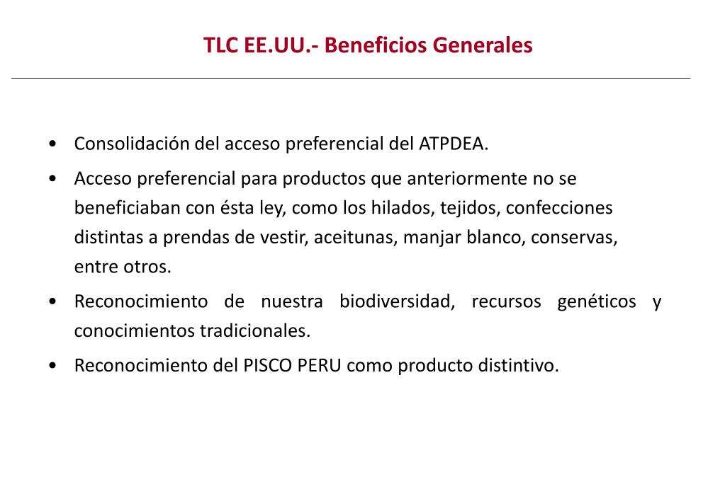TLC EE.UU.- Beneficios Generales