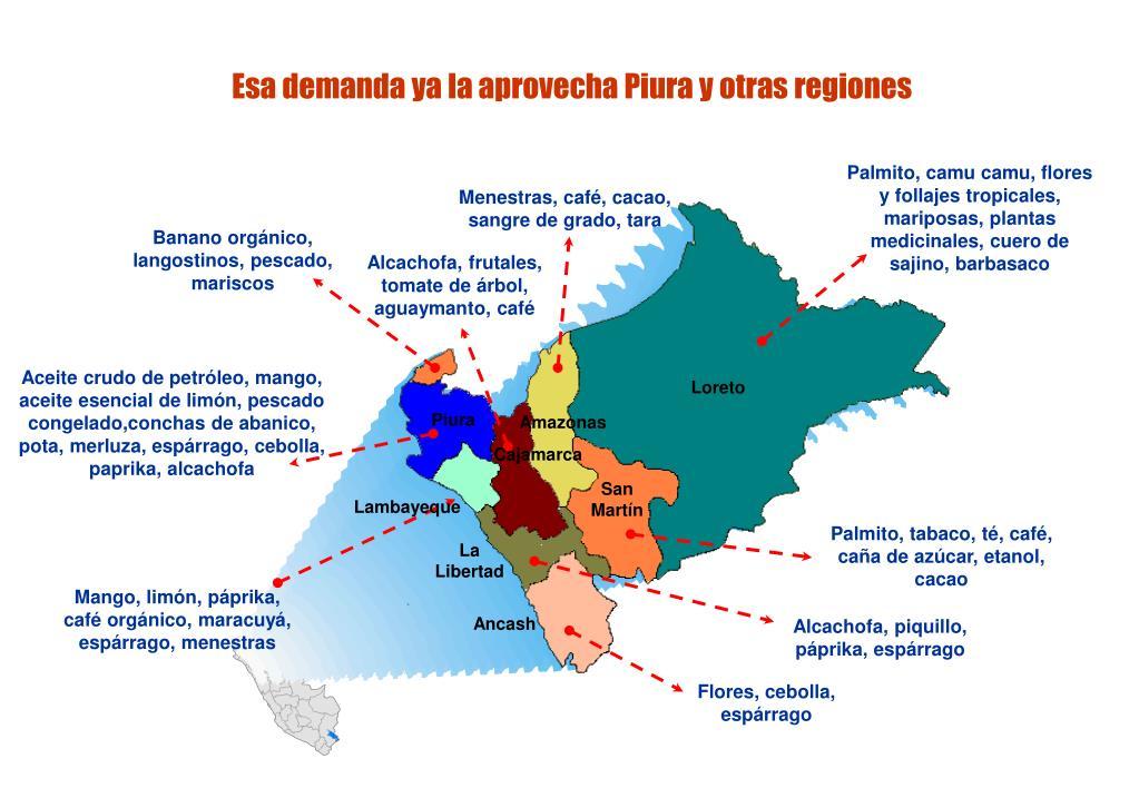 Esa demanda ya la aprovecha Piura y otras regiones