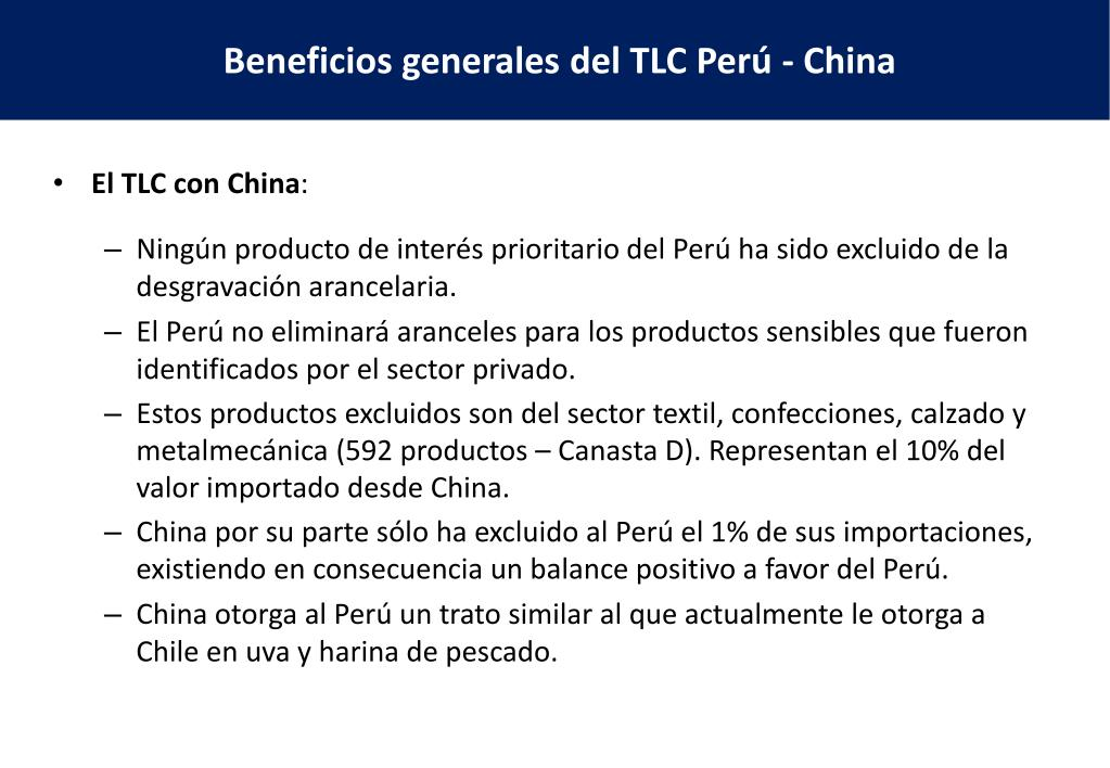 El TLC con China