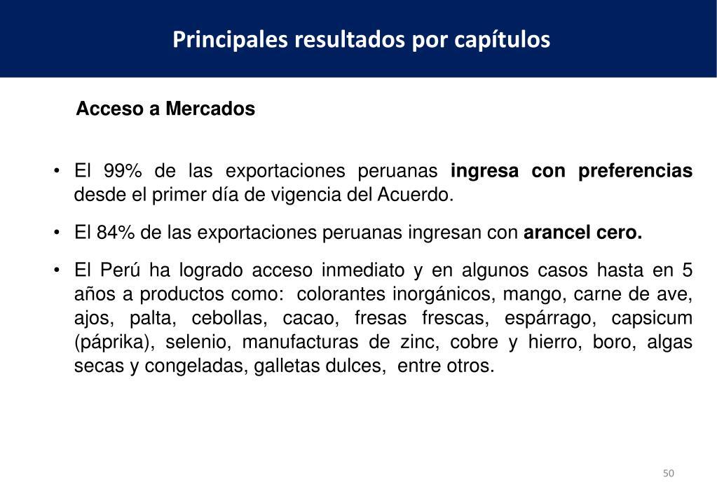 El 99% de las exportaciones peruanas