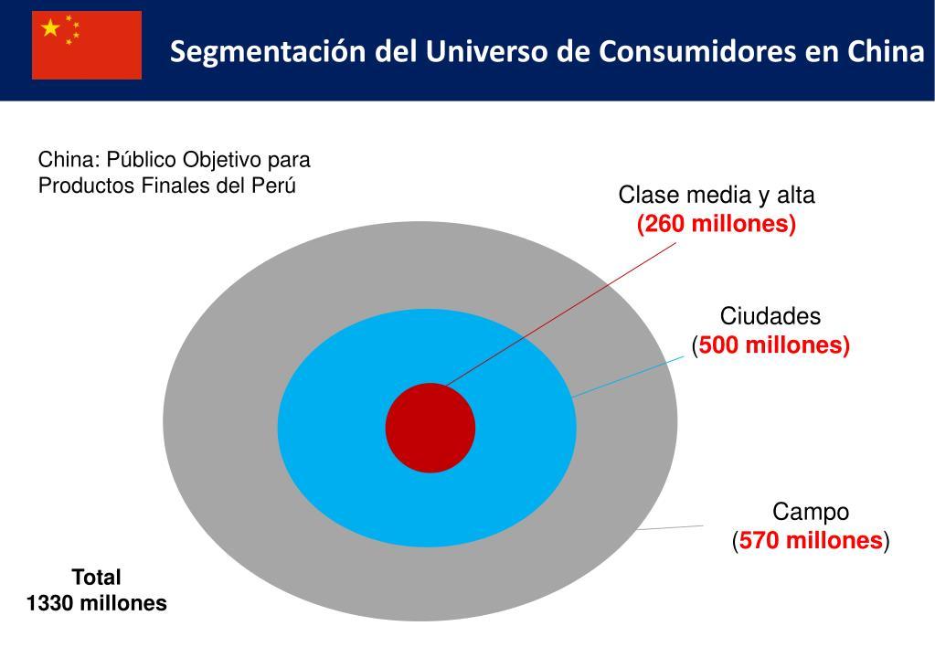 Segmentación del Universo de Consumidores en China