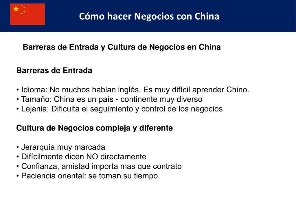 Cómo hacer Negocios con China