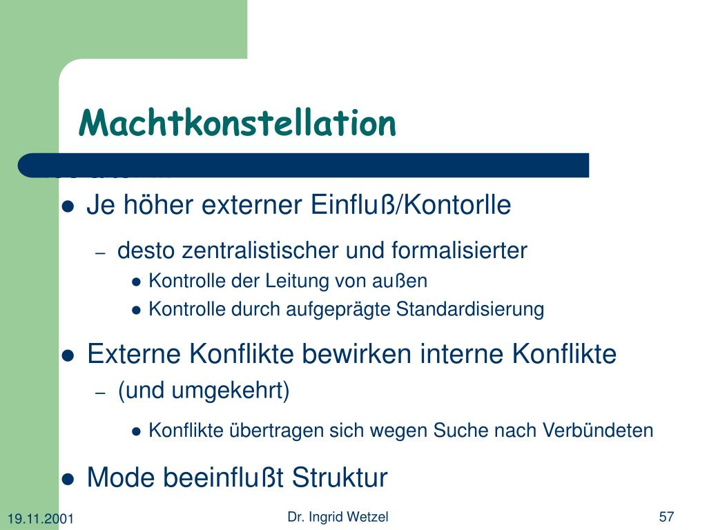 Machtkonstellation
