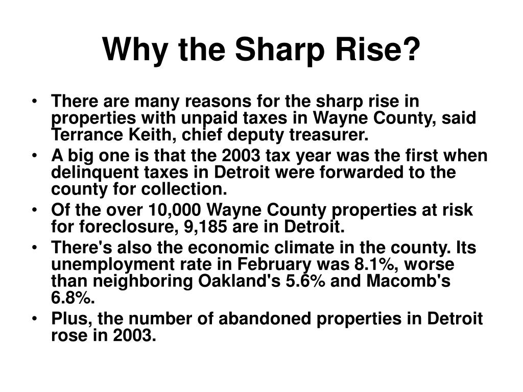 Why the Sharp Rise?