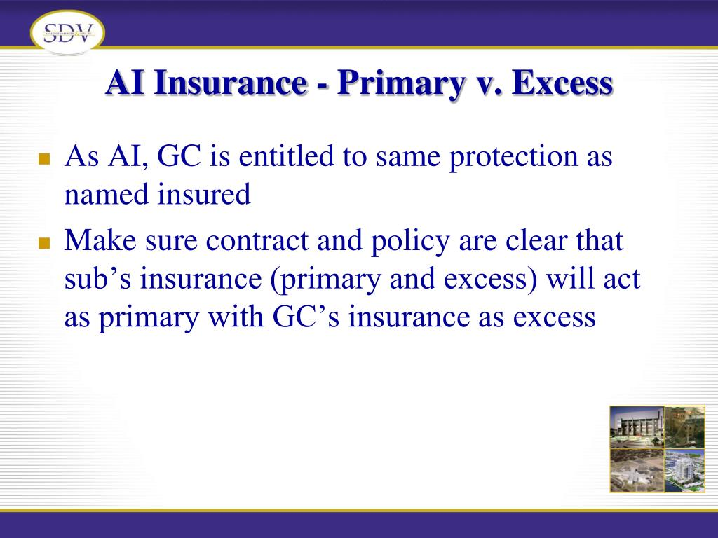 AI Insurance - Primary v. Excess