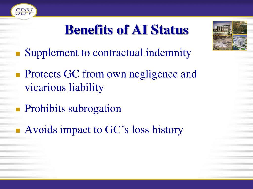 Benefits of AI Status