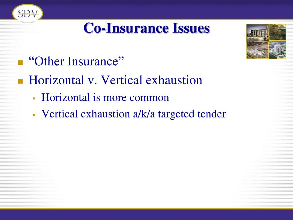 Co-Insurance Issues
