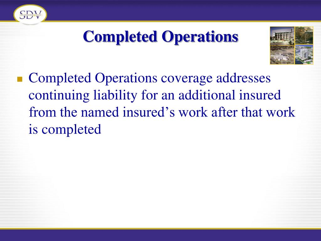 Completed Operations