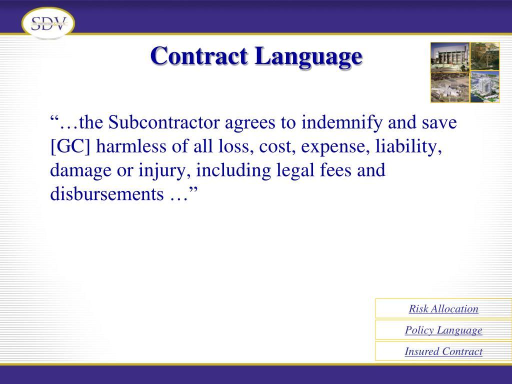 Contract Language