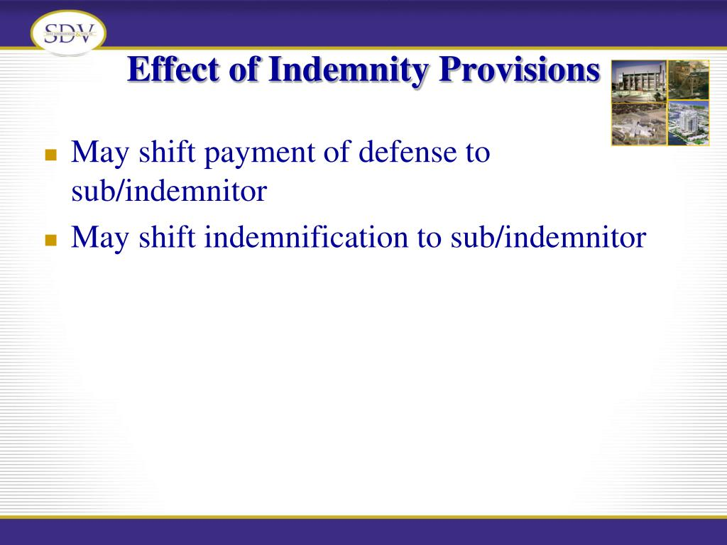 Effect of Indemnity Provisions