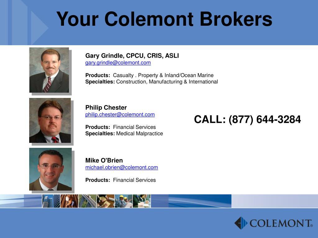 Your Colemont Brokers
