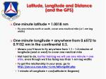 latitude longitude and distance and the gps