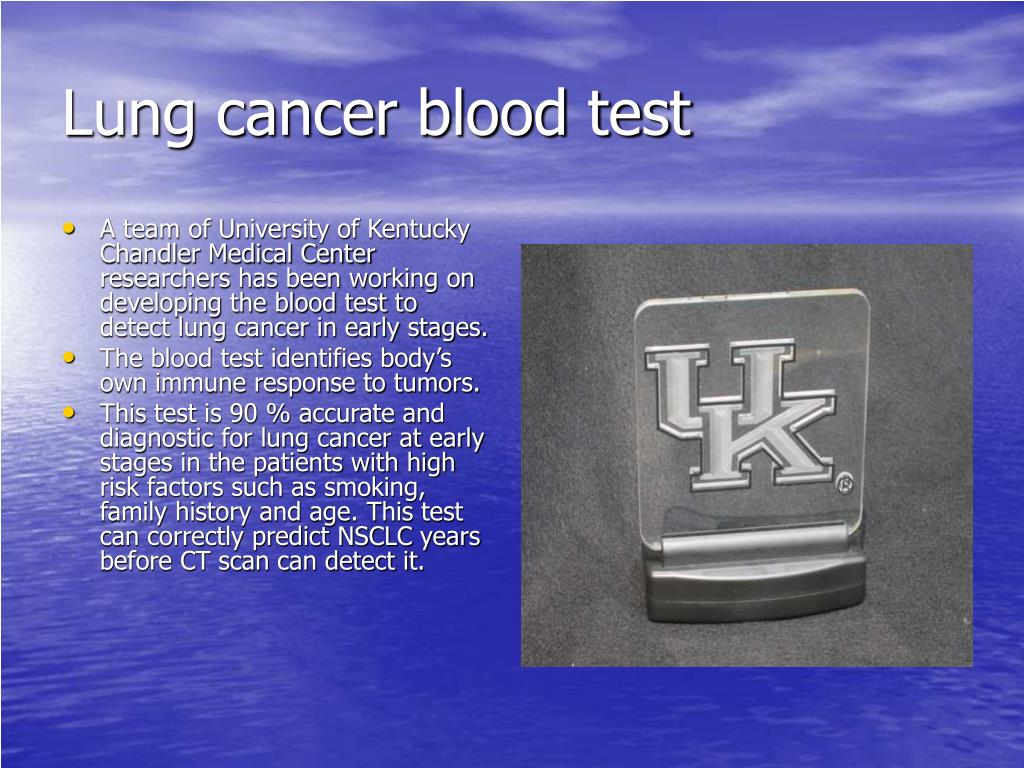 Lung cancer blood test