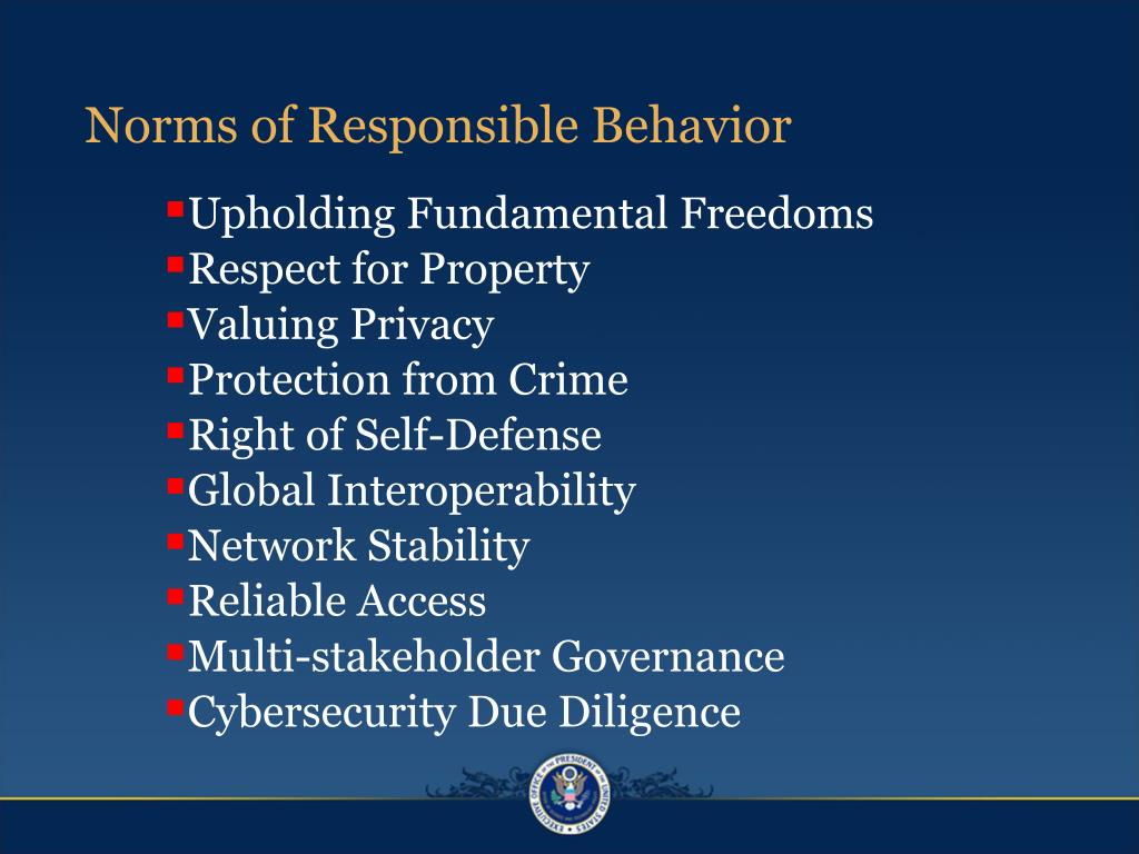 Norms of Responsible Behavior