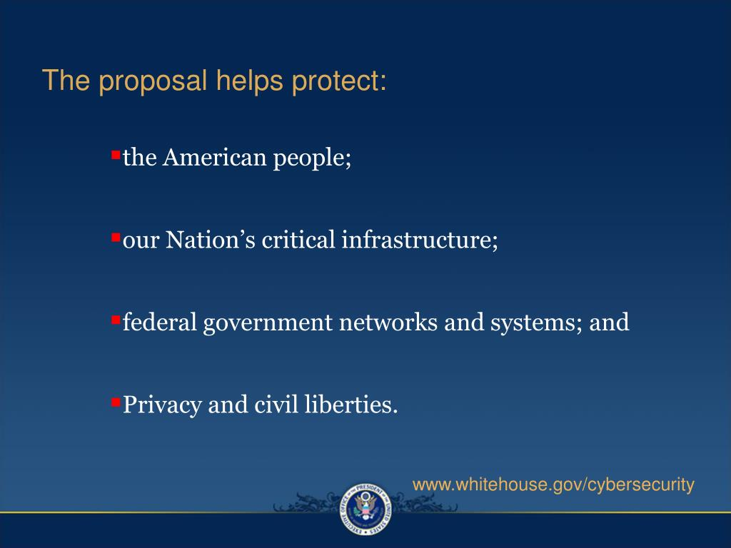 The proposal helps protect: