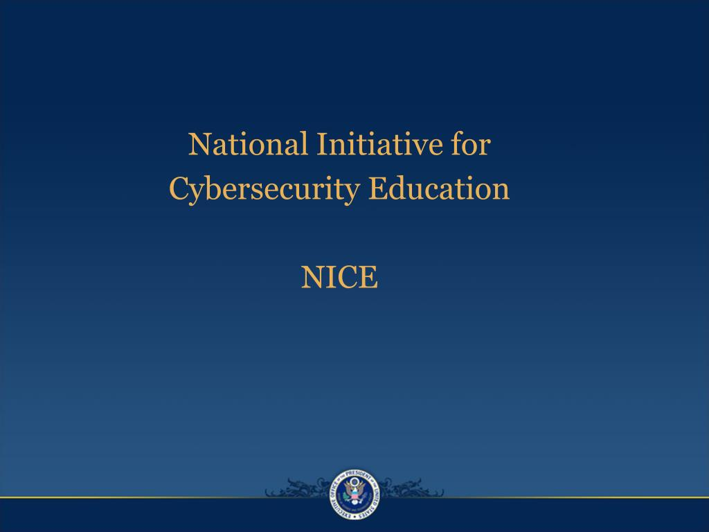 National Initiative for