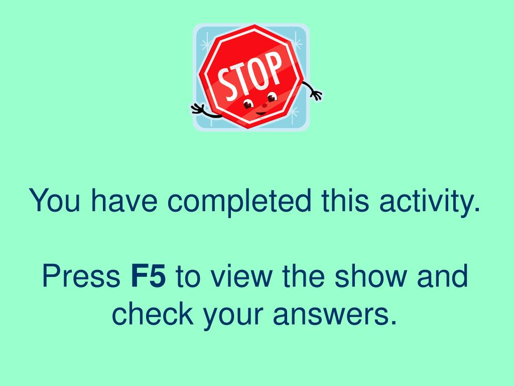 You have completed this activity.