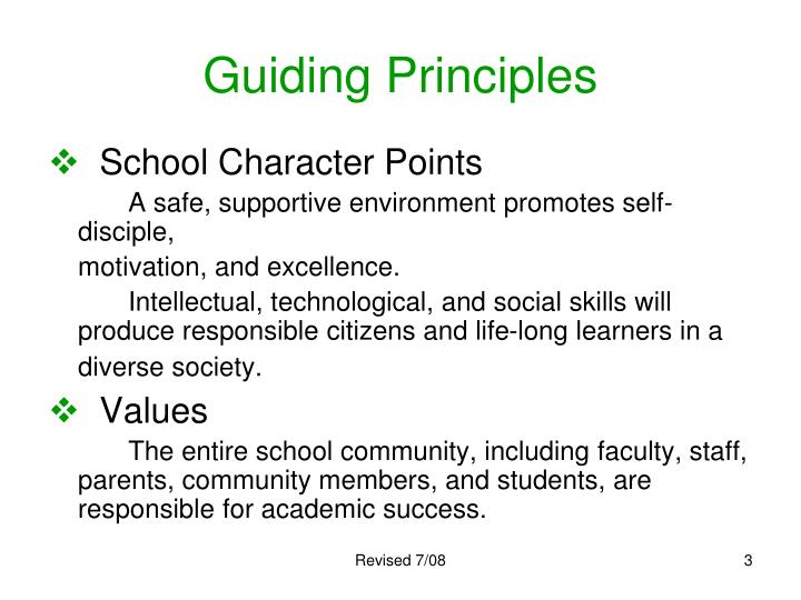 Guiding principles3