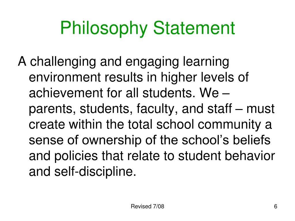 Philosophy Statement