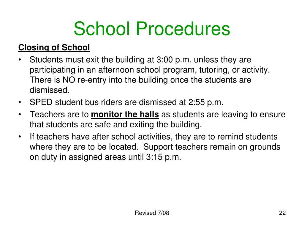 School Procedures