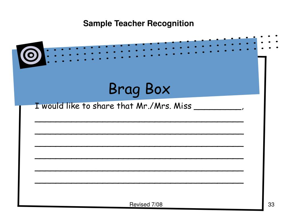 Sample Teacher Recognition