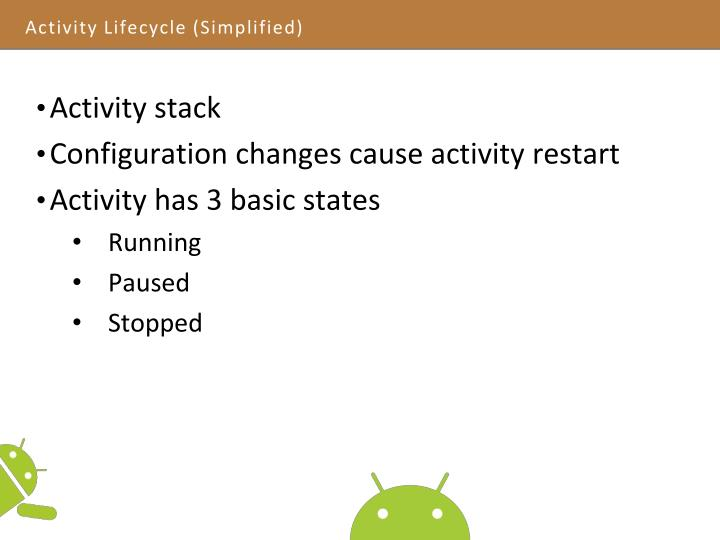 Activity Lifecycle (Simplified)