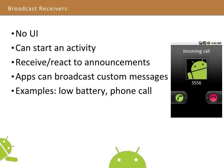 Broadcast Receivers