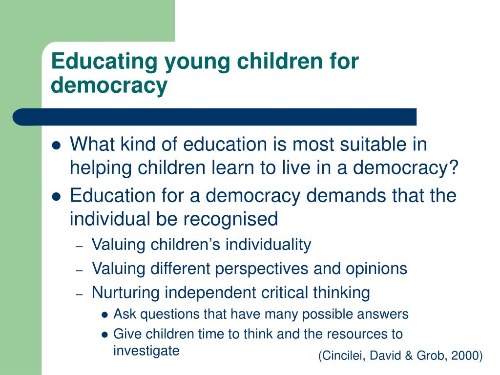 Educating young children for democracy