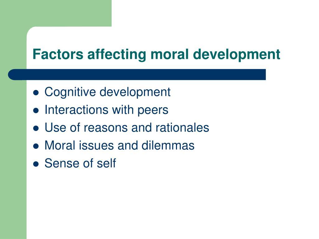 Factors affecting moral development