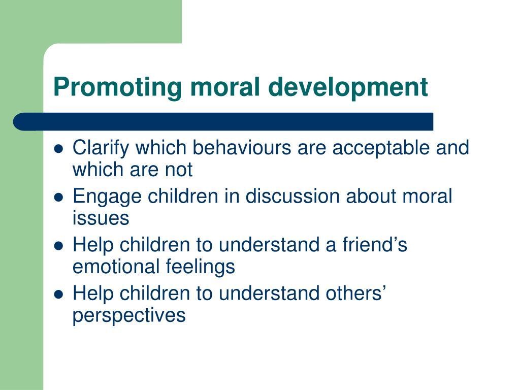 Promoting moral development