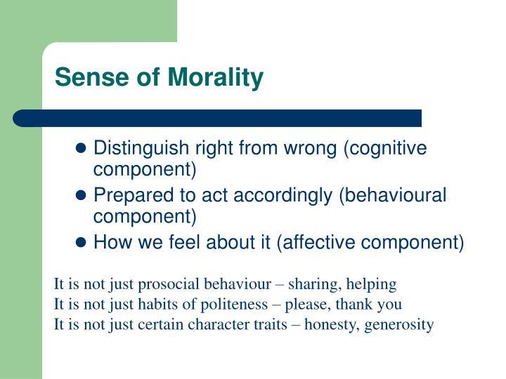 Sense of morality