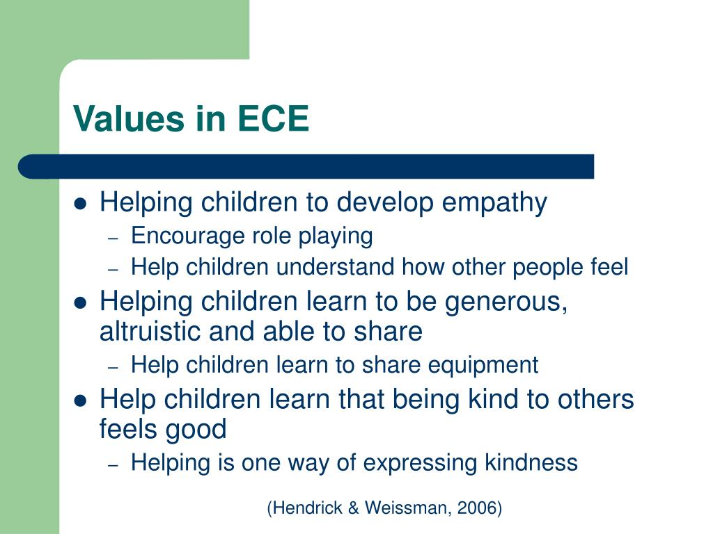 Values in ECE