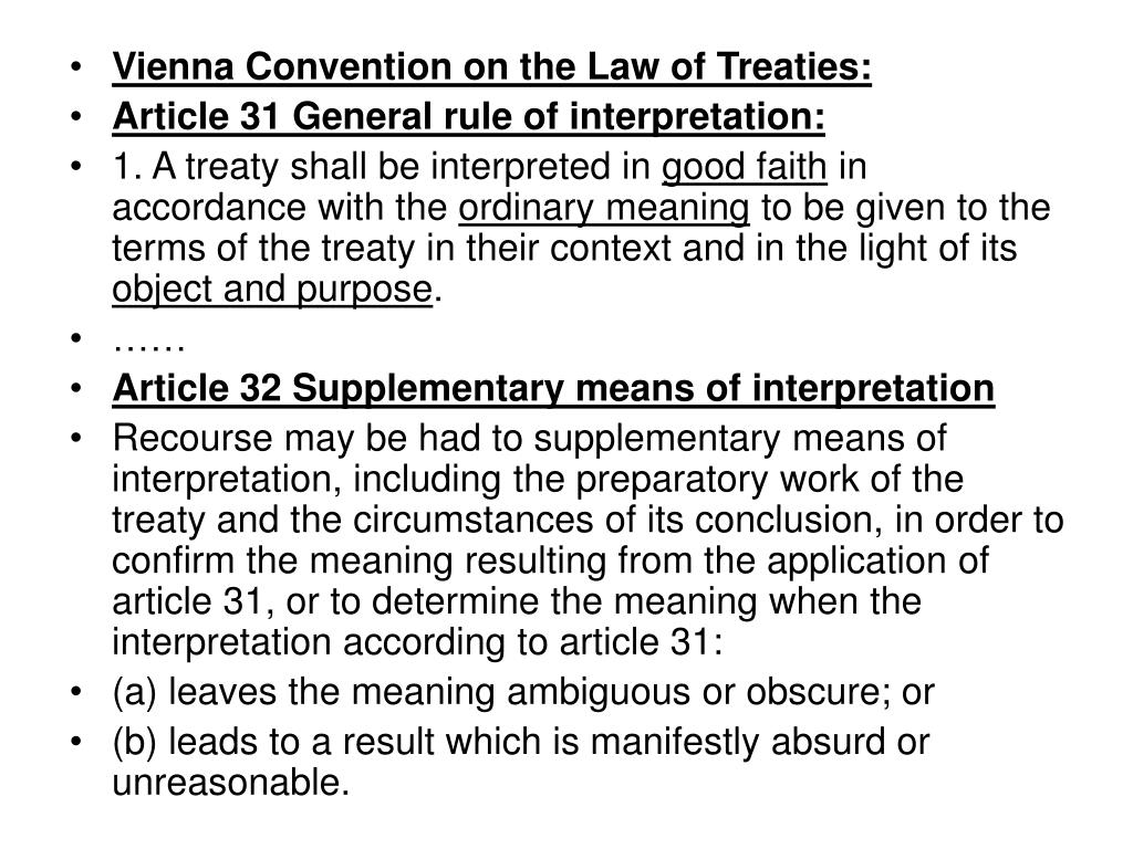 Vienna Convention on the Law of Treaties: