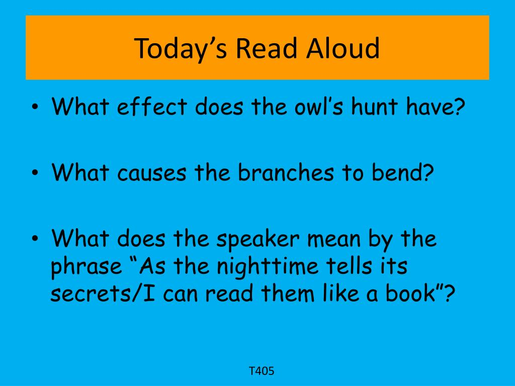 Today's Read Aloud