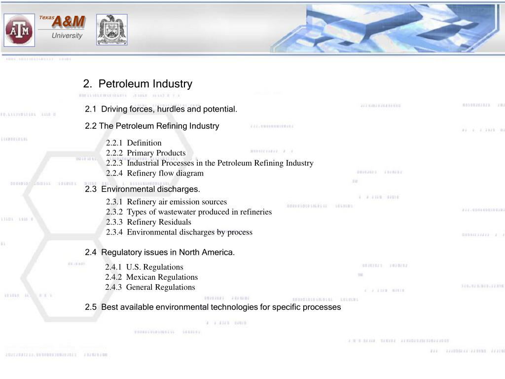 2.  Petroleum Industry