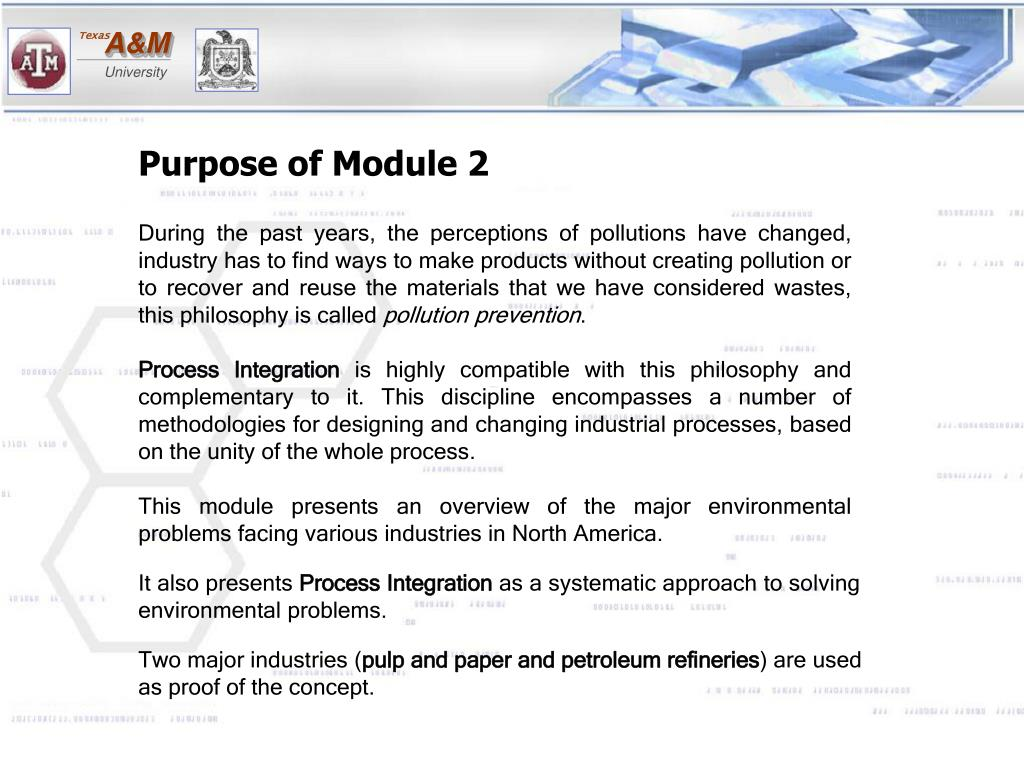 Purpose of Module 2