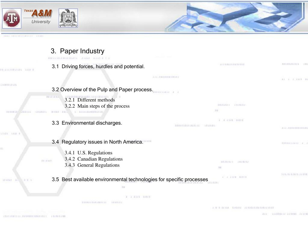 3.  Paper Industry