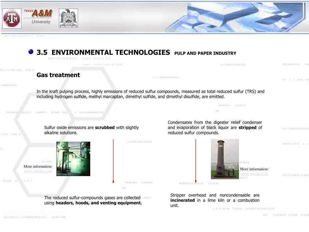 3.5  ENVIRONMENTAL TECHNOLOGIES