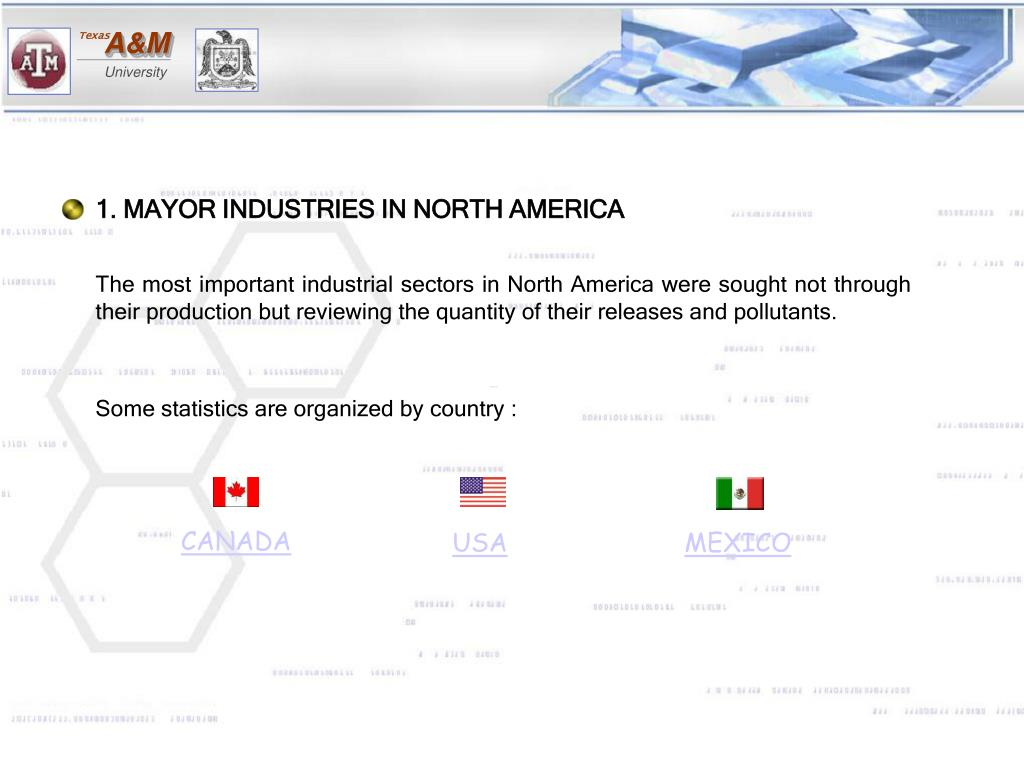 1. MAYOR INDUSTRIES IN NORTH AMERICA