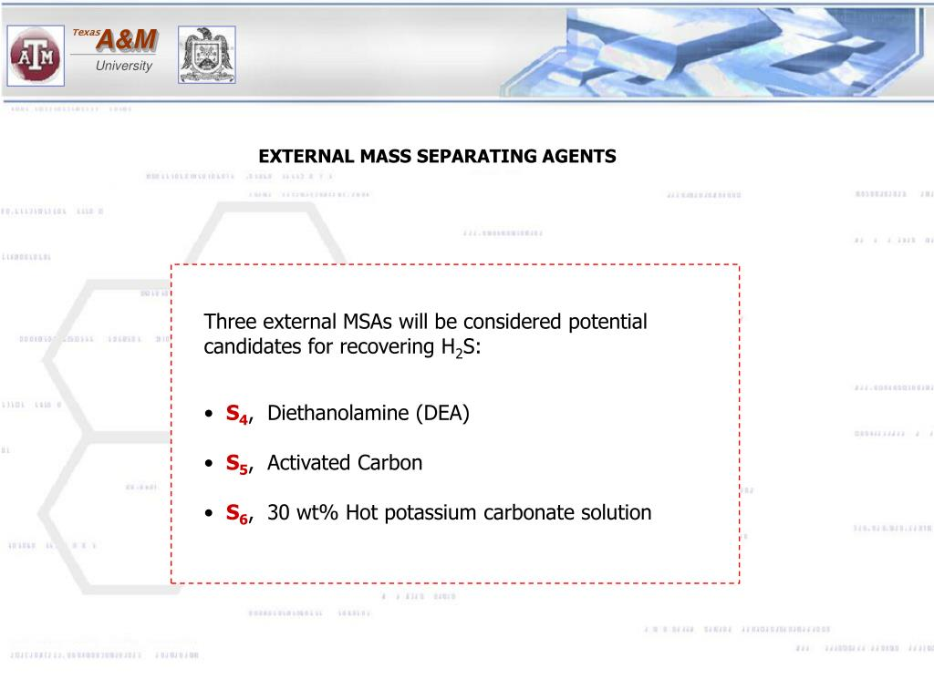 Three external MSAs will be considered potential candidates for recovering H