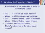 2 1 what are the properties of water5