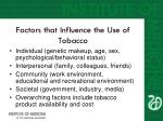 factors that influence the use of tobacco